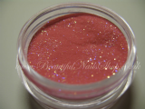 Raspberry acrylic powder with glitter /060/